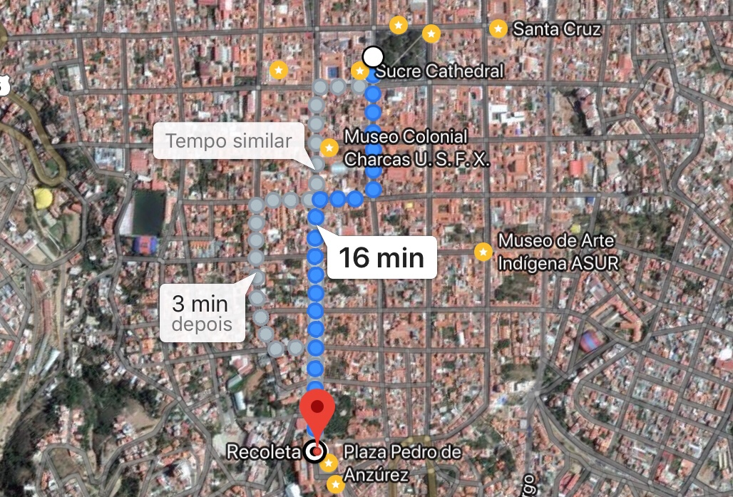 mapa recoleta - 1 dia