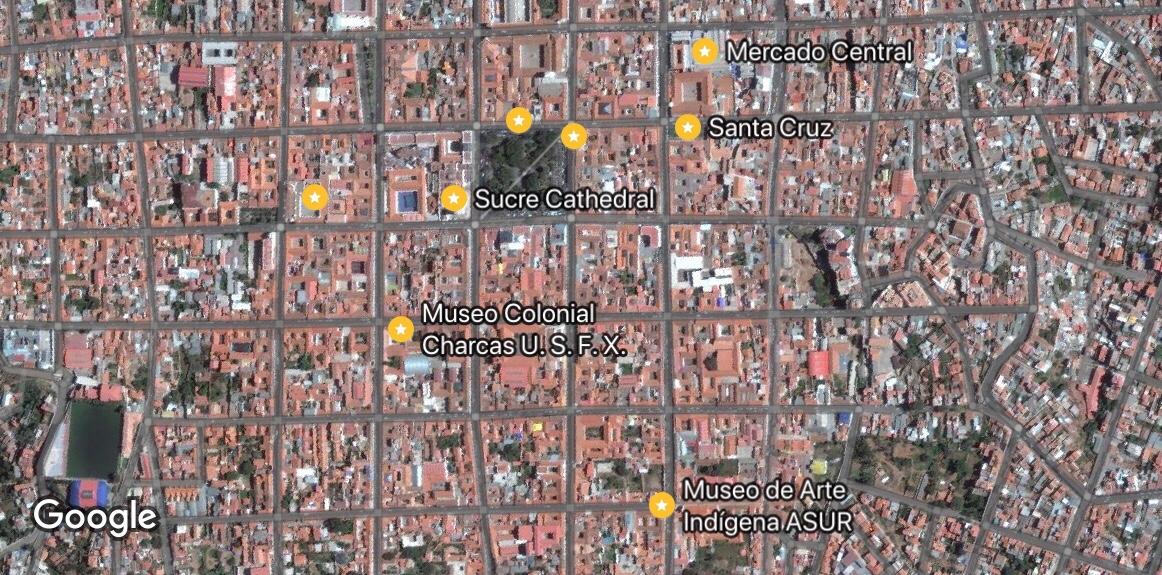 mapa segundo dia Sucre